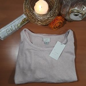 a new day light pink long sleeve cozy knit top NWT